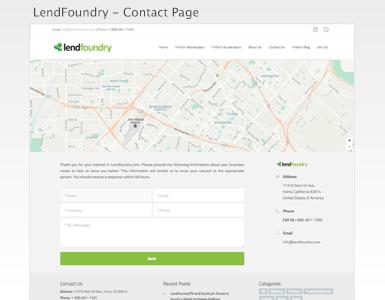 LendFoundry Web - Contact Us