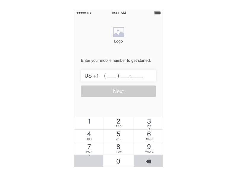 1.0 - Onboarding - Enter Phone Screen